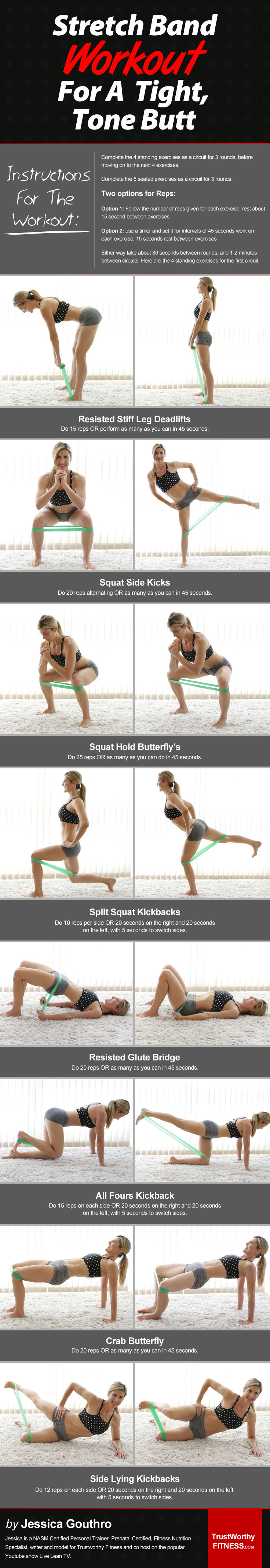 Stretch Band Workout For A Tight, Toned Butt