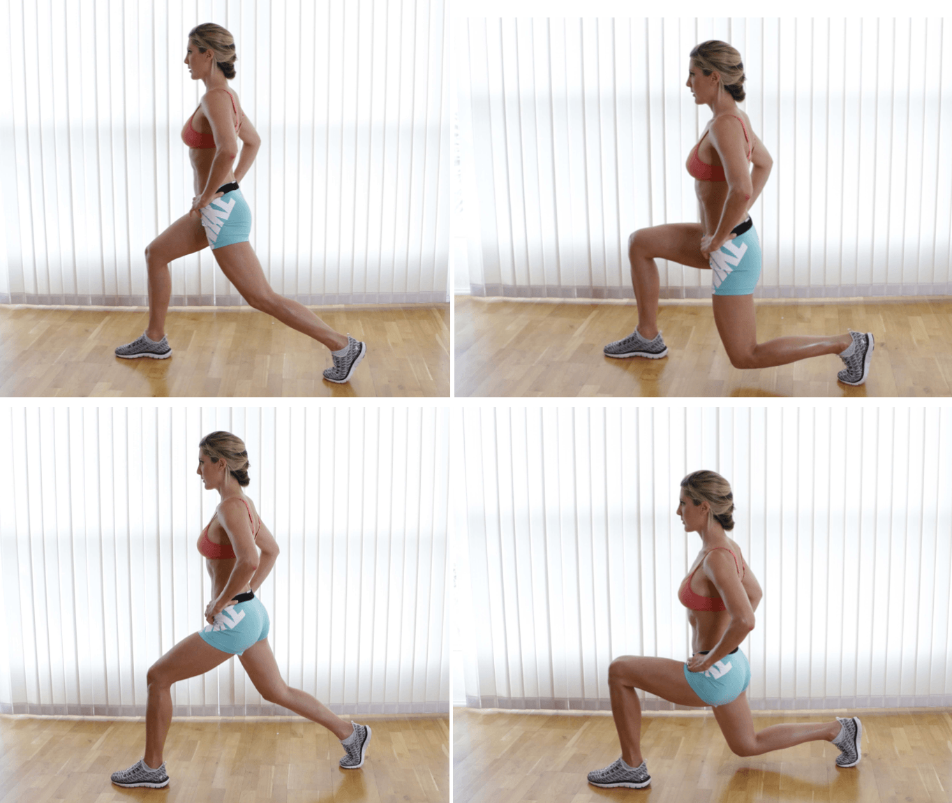 Split Squat Pulses, right and left