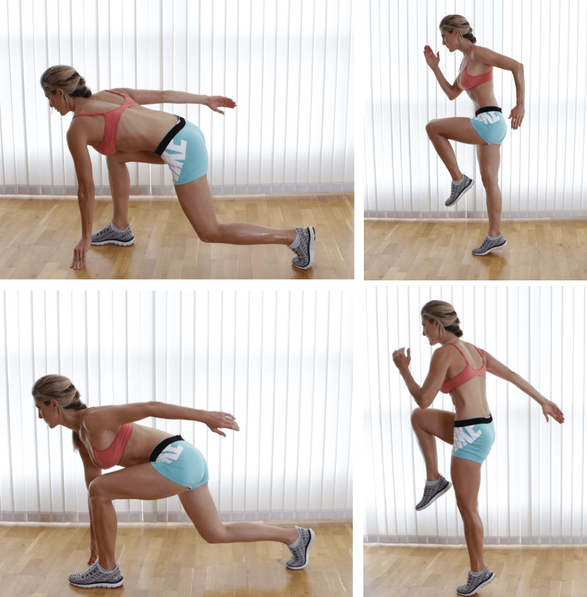 Sprinter Lunges, right and left