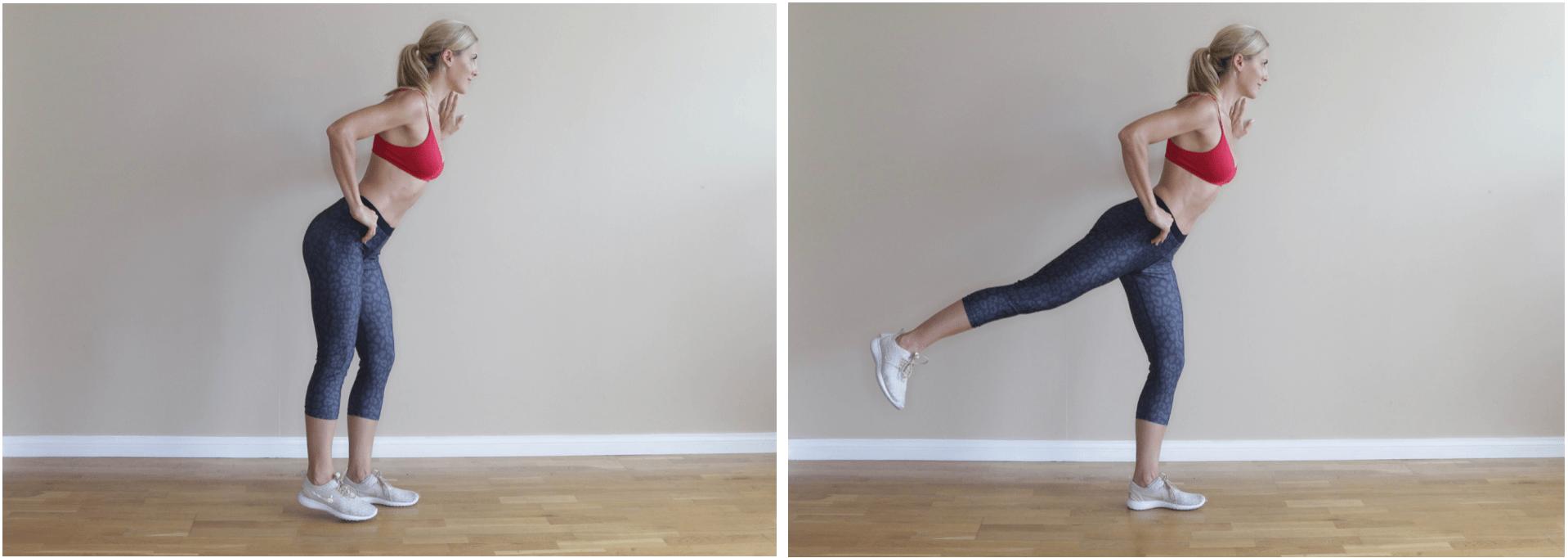 45 Degree Angle Standing Back Kicks