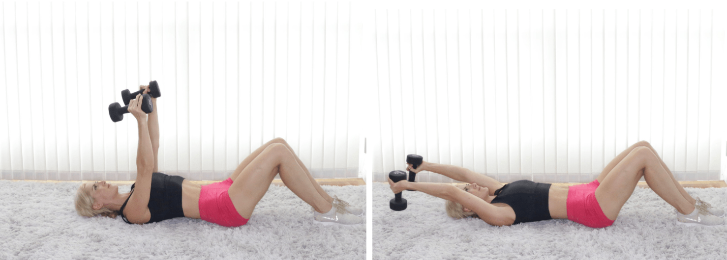 Dumbbell Lying Pullovers