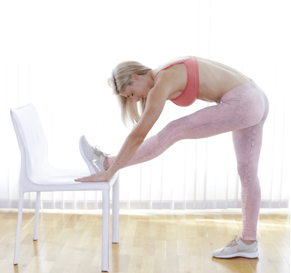 Hamstring Stretch on Chair