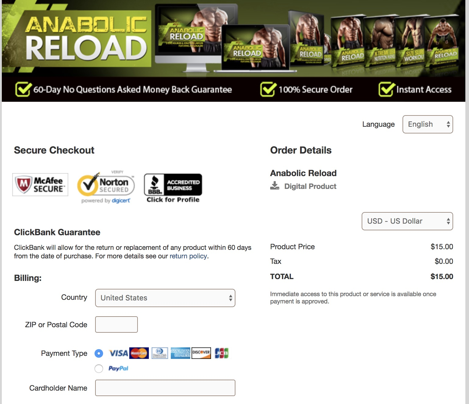 Anabolic Reload review