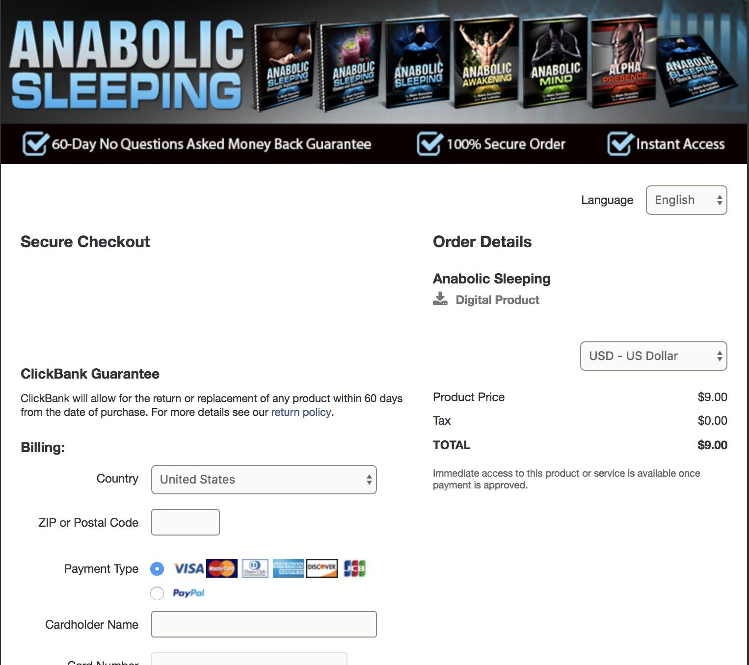 Anabolic Sleeping Order