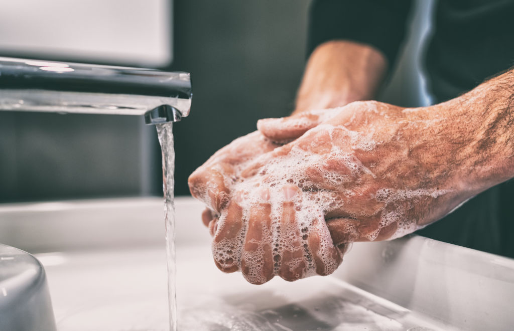 Washing hands during Coronavirus Pandemic