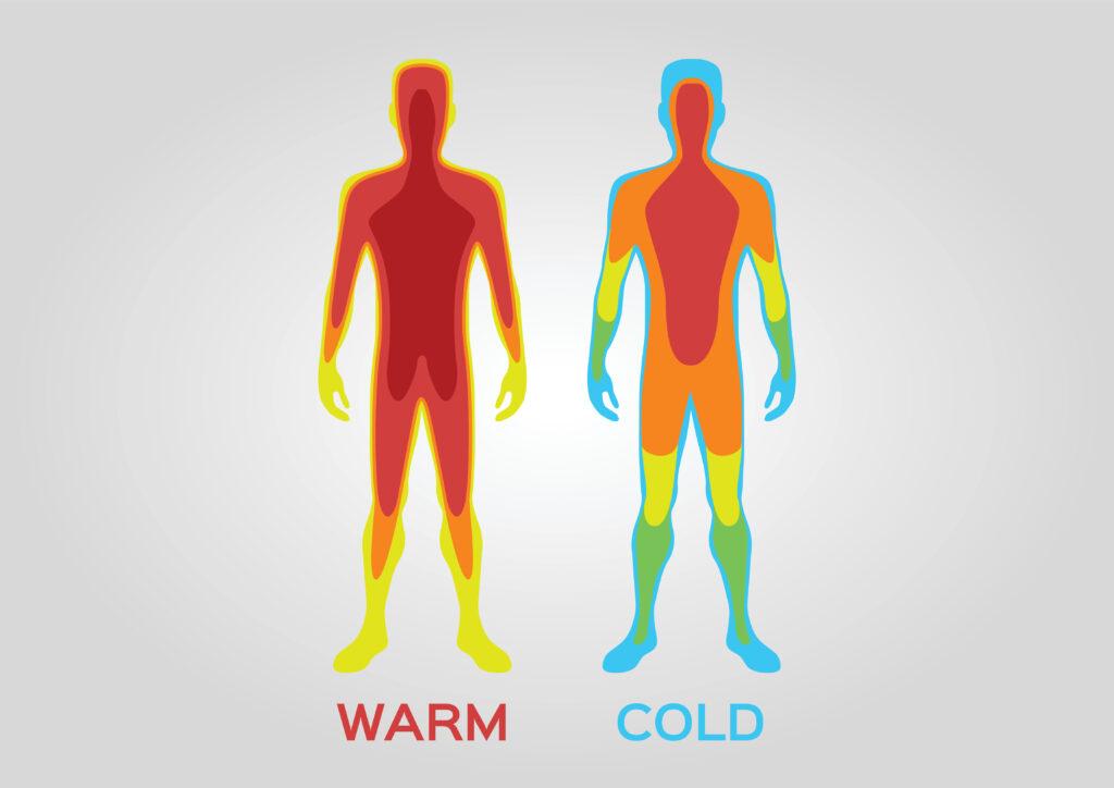 Increase in body temperature